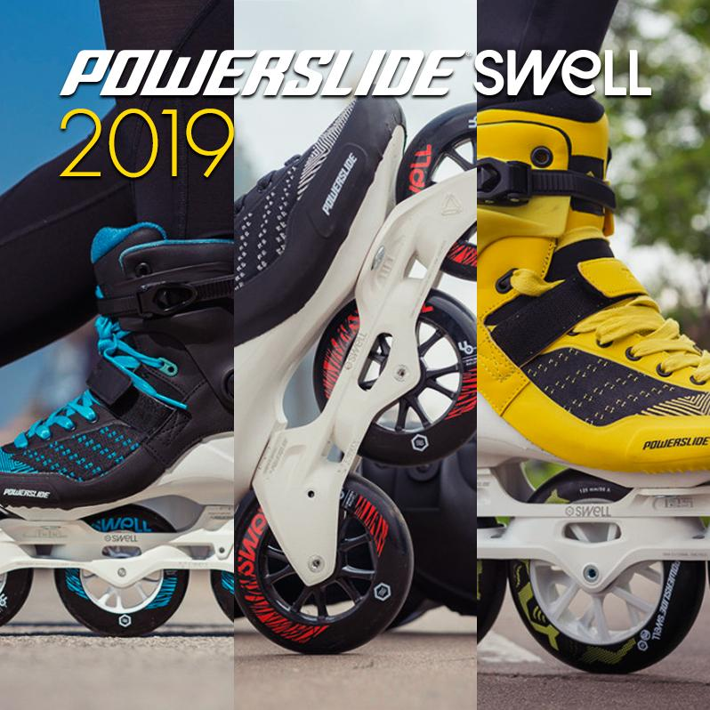 Three completely new Powerslide - Swell skate models for advanced fitness skating