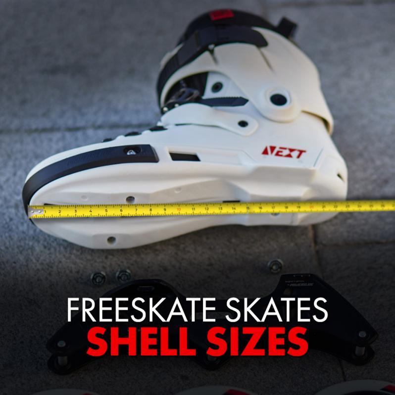 Sizes of the shells in Freeskate Skates