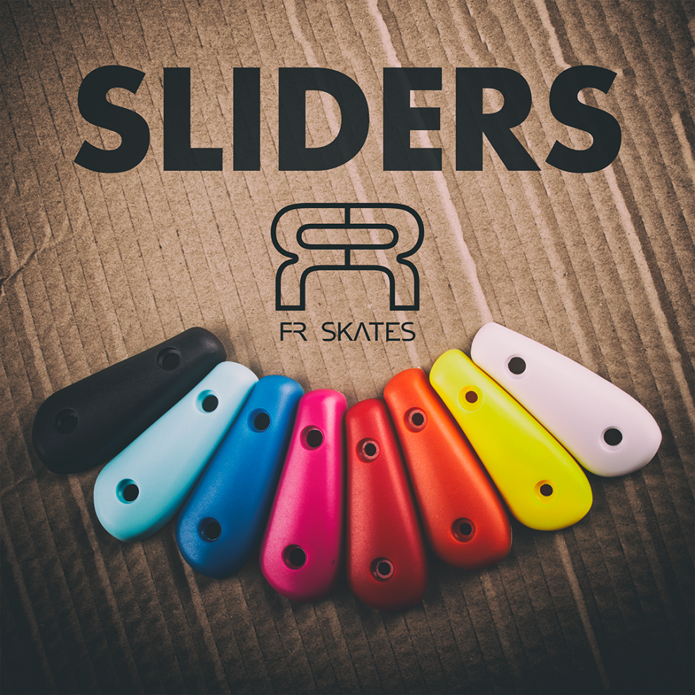 Colorful double straps, laces and sliders for FR skates