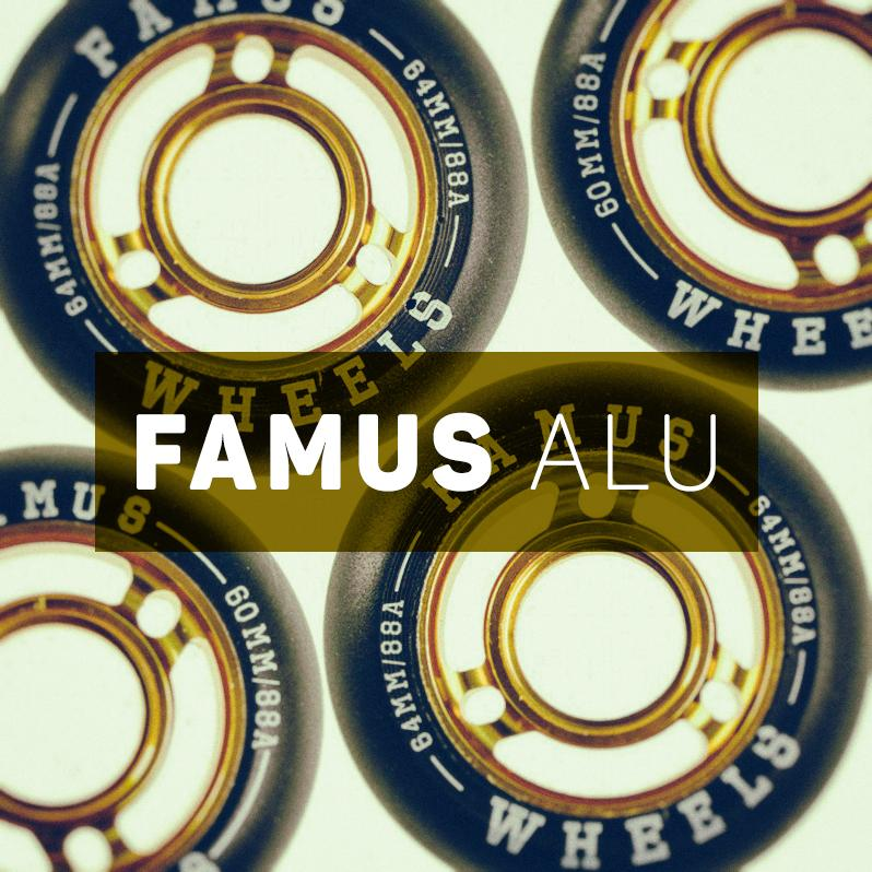 Super fast and grippy wheels for aggressive skating with a metal core - Famus