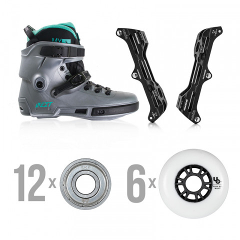 Skates - Powerslide - Next Arctic Grey - Nexus/Undercover Custom Inline Skates - Photo 1