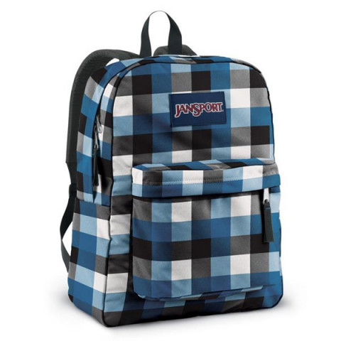 JanSport Superbreak Blue Streak Block Check