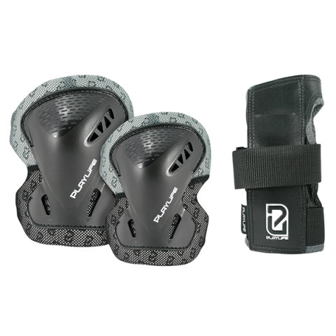 Pads - Playlife - Adult Tri-pack - Black - Photo 1