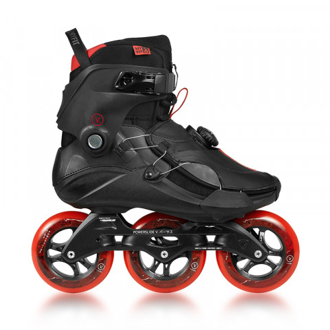 Skates - Powerslide - V. 110 - Jasper Red Inline Skates - Photo 1