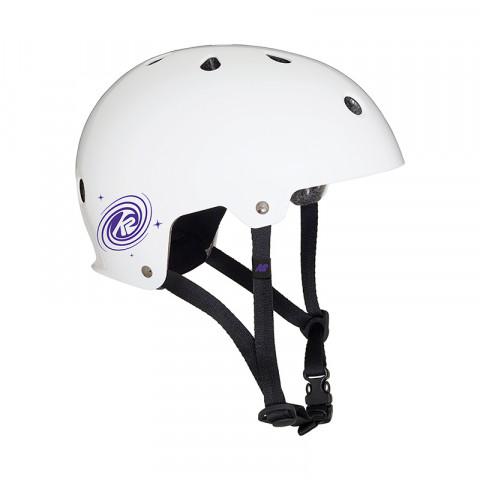 Helmets - K2 - Junior Varsity - White/Purple Helmet - Photo 1