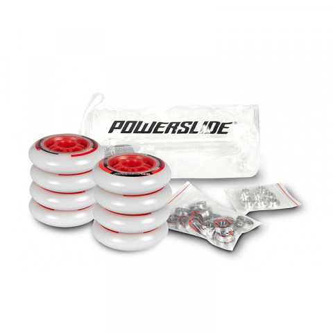 Powerslide - One 76mm/82a + Abec 5, 8mm Spacers (8 pcs.)