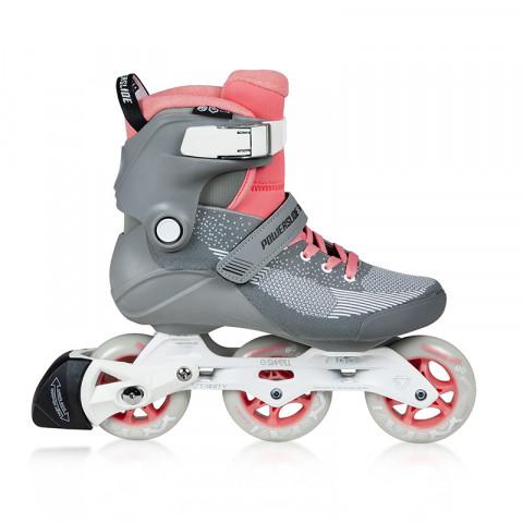 Skates - Powerslide - Swell Lite 90 - Grey/Pink Inline Skates - Photo 1