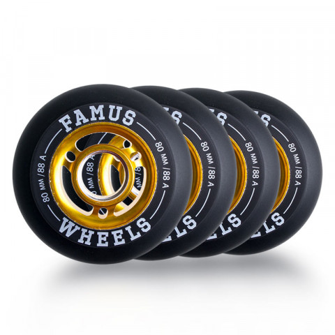 Wheels - Famus - Alu Fulgurante Wheel 80mm/88A - Photo 1