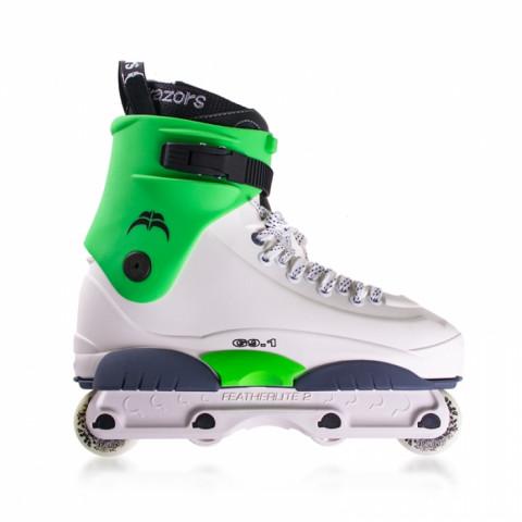 Skates - Razors - Genesys 9.1 - White/Green Inline Skates - Photo 1
