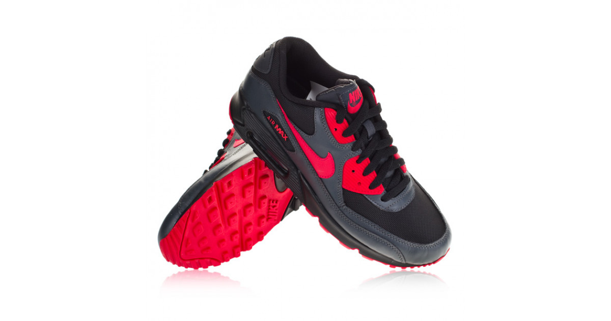 on sale e7012 77acb Nike - Air Max 90 WMNS - Black Siren Red Anthracite - Only Good Skates